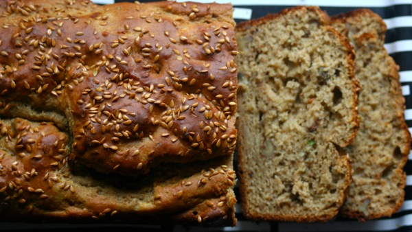Banana Avocado Bread with Flaxseeds