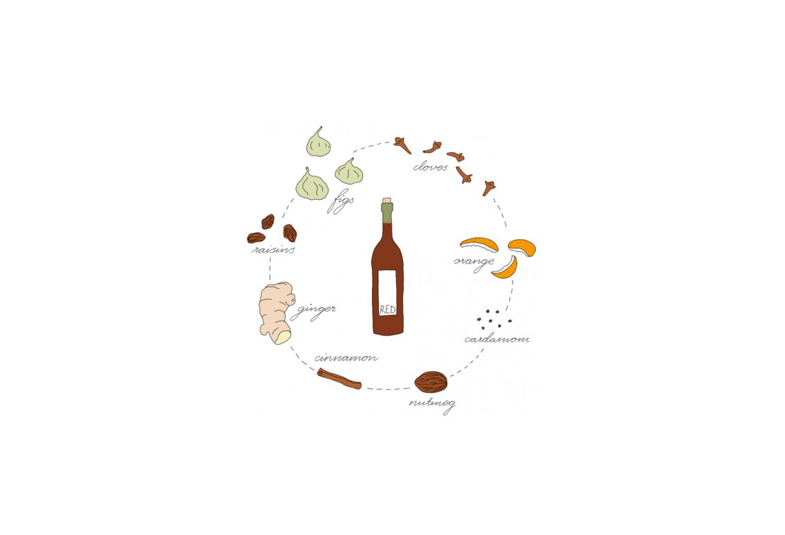 Celebrate Swedish Advent: How to Make Glögg (illustration by Johanna Kindvall)