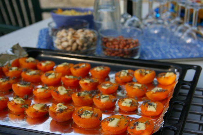 A Taste of Provence: Honey and Lavender Roasted Apricots with Goat Cheese