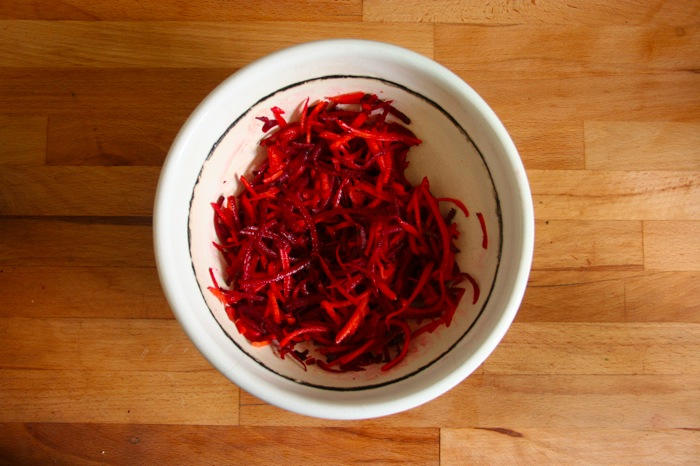 beets and carrot slaw