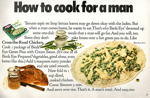 Friday Wisdom: How to Cook for a Man