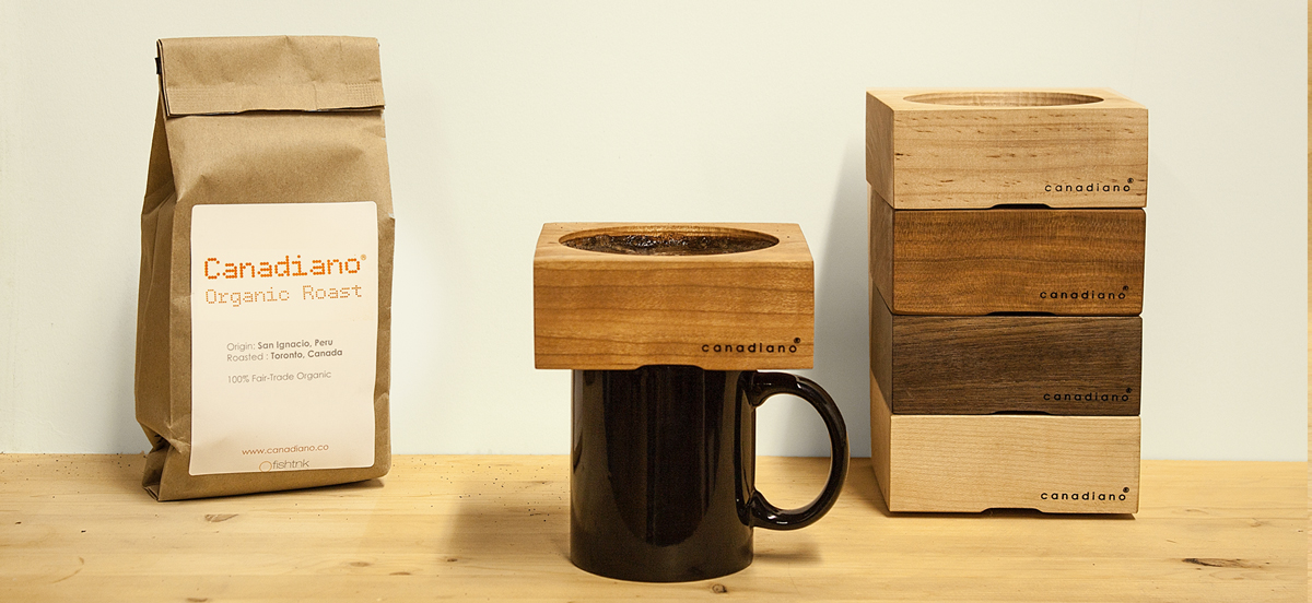 Brew Your Coffee with a Wood Pour Over