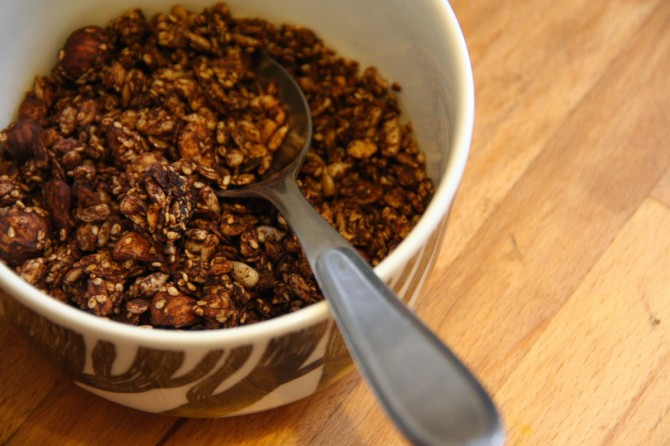 Chocolate Seed Granola on Foodie Underground