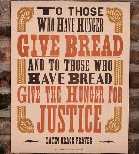 Friday Wisdom: Hunger and Justice