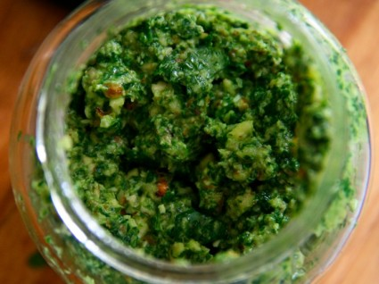Lemony Parsley and Mint Pesto from Foodie Underground