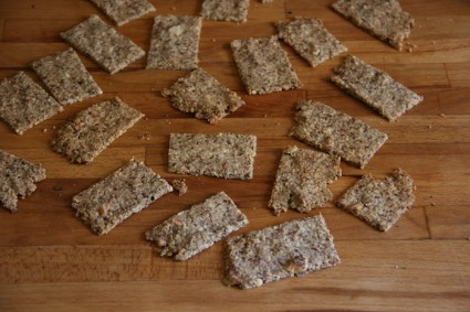 Salted Almond and Sesame Crackers on Foodie Underground