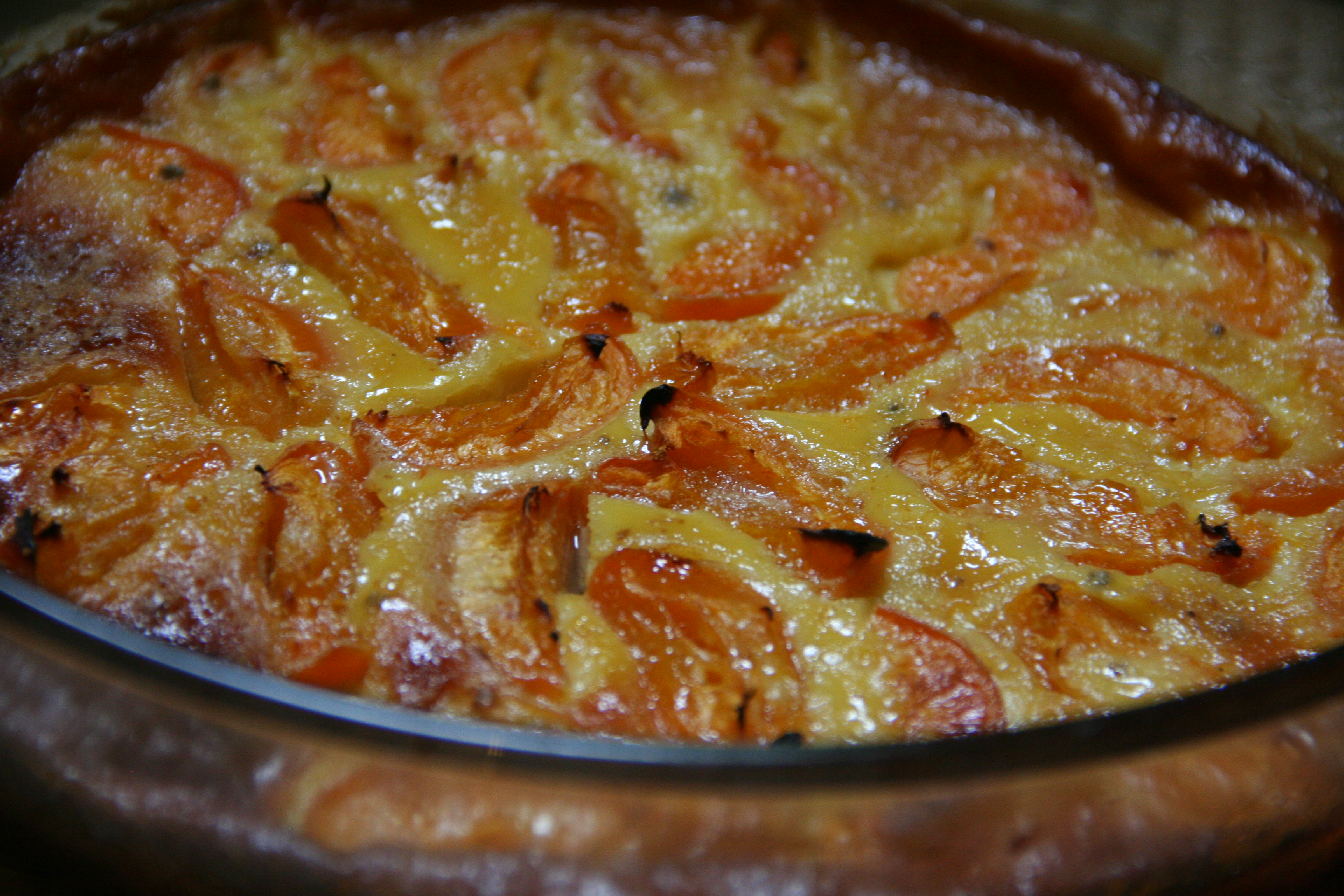 Apricot, Honey and Cardamom Clafoutis
