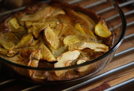 Savory Apple and Turnip Buckwheat Dutch Baby