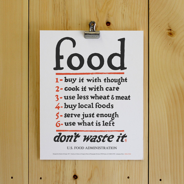Win a Holstee Food Rules poster on Foodie Underground