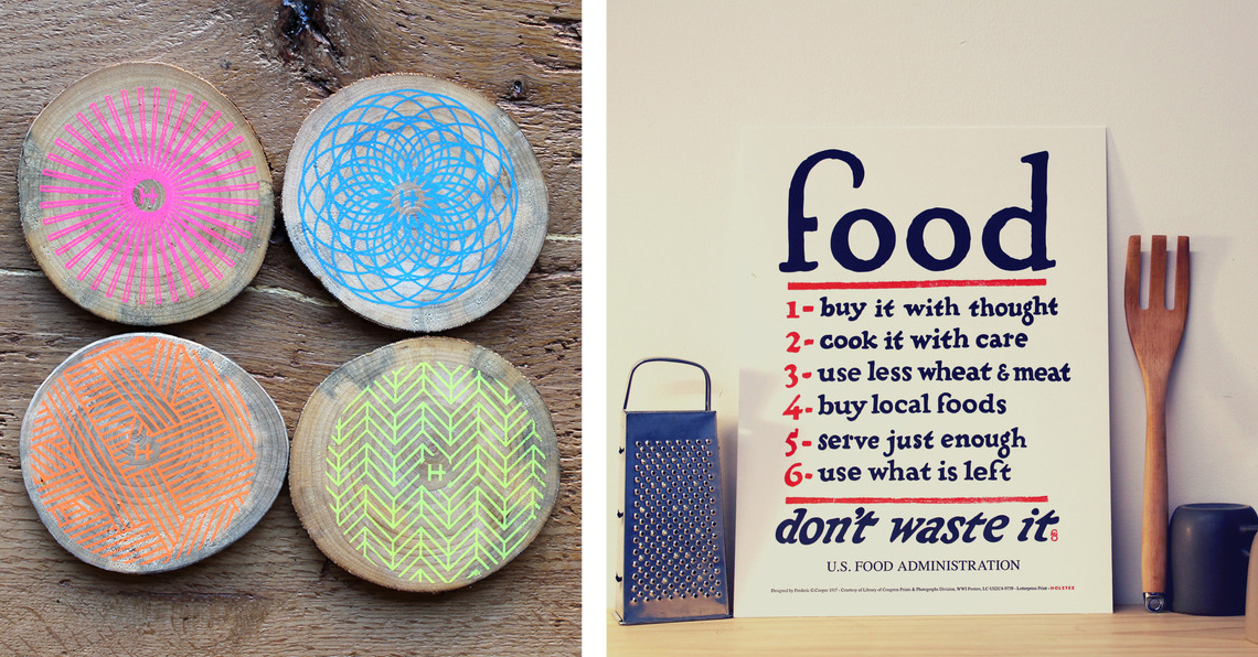 Win a coasters and a Holstee Food Rules poster on Foodie Underground