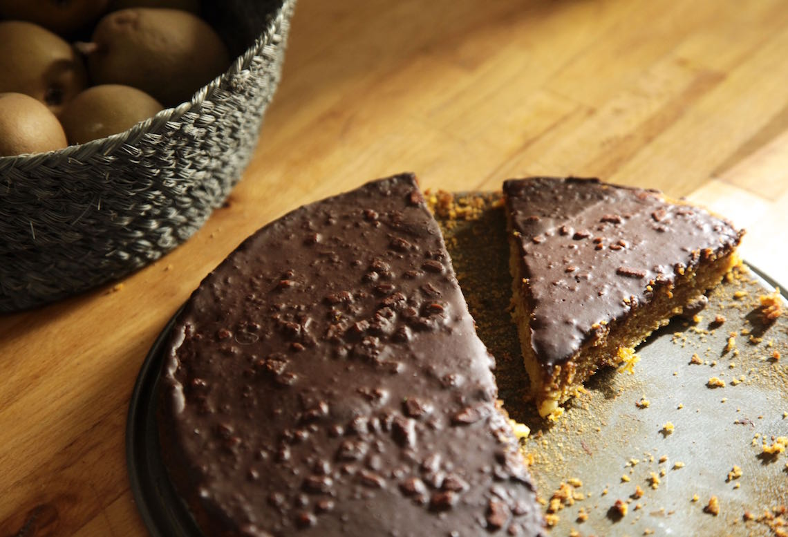 Friday Fika: Carrot Cake with Chocolate Ganache