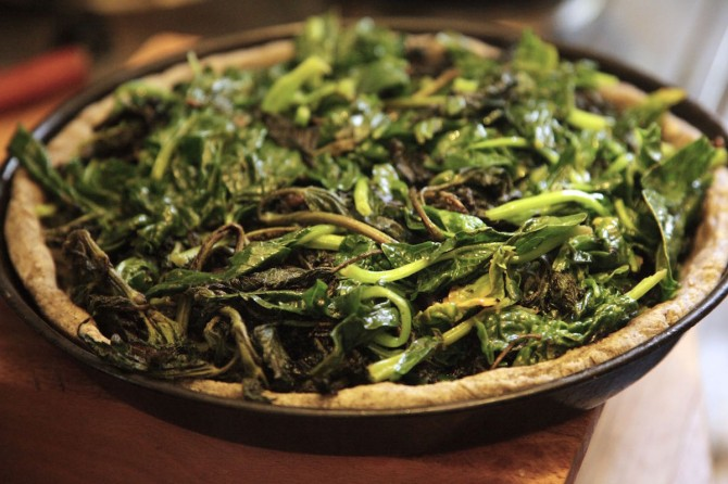 Savory Tart with Nettles on Foodie Underground