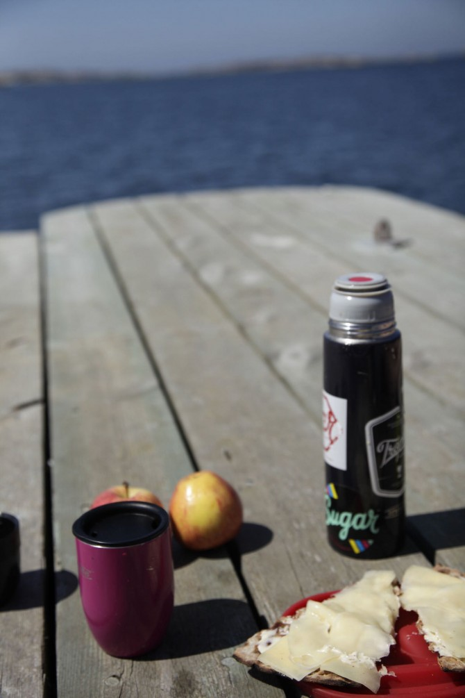 Picnic on Vrango in Gothenburg Archipelago
