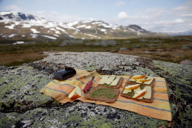 Rye Bread Sandwiches on Kungsleden, Sweden by Anna Brones