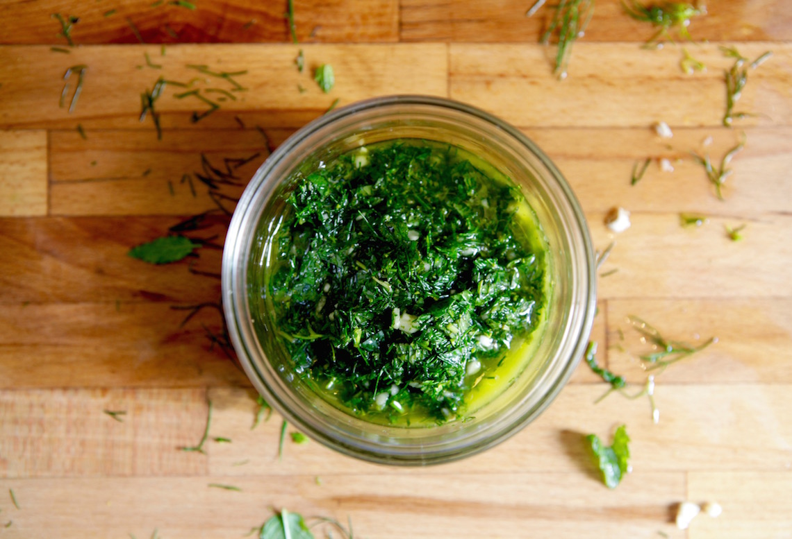 Dill Chimichurri on Foodie Underground