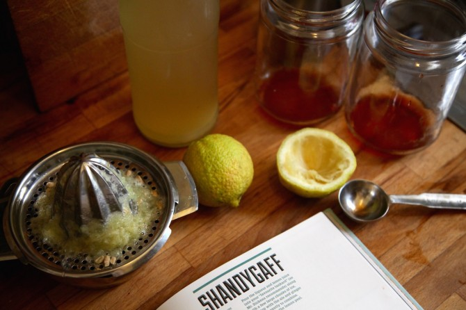 Recipe for Shandygaff from Cocktails on Tap
