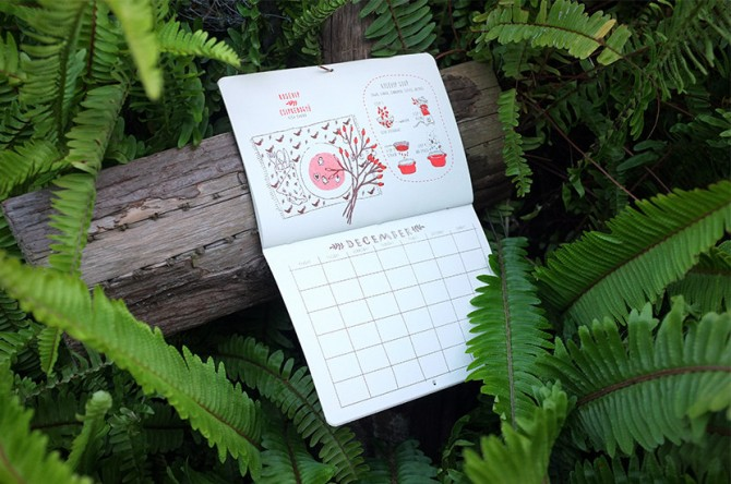 Wild Food Calendar by Collective Plant