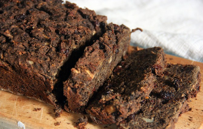 Gluten Free Parsnip and Beet Bread