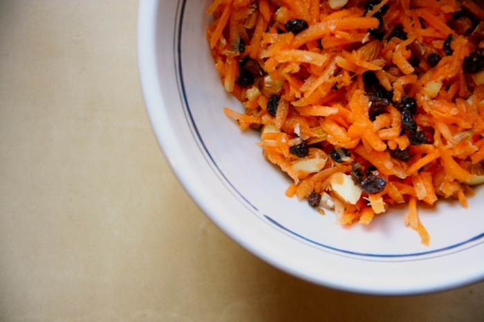 Winter Carrot and Ginger Salad with Almonds