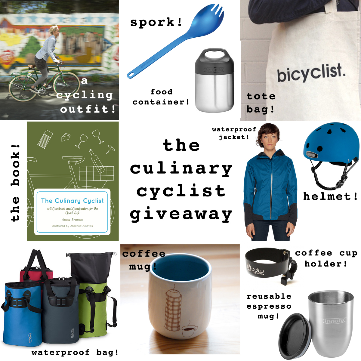 The Culinary Cyclist Giveaway: Win a Cookbook and Over $500 of Awesome Bike and Food Gear