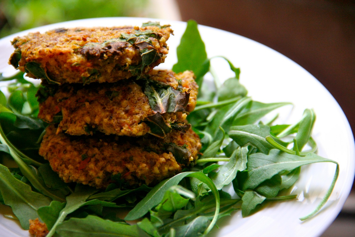 Winter Squash and Kale Millet Burgers