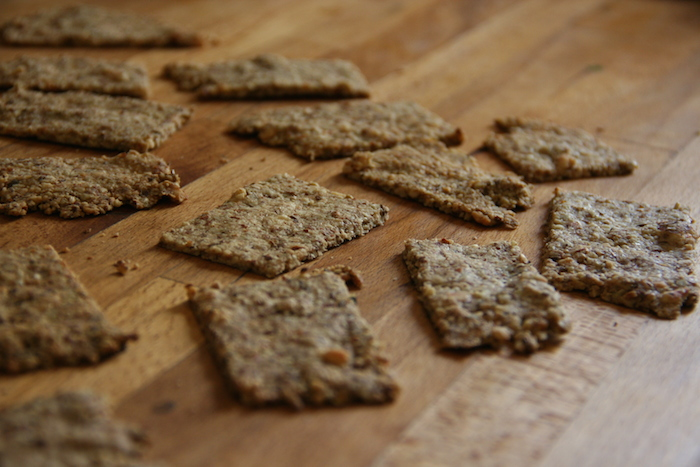 Salted Almond and Sesame Crackers