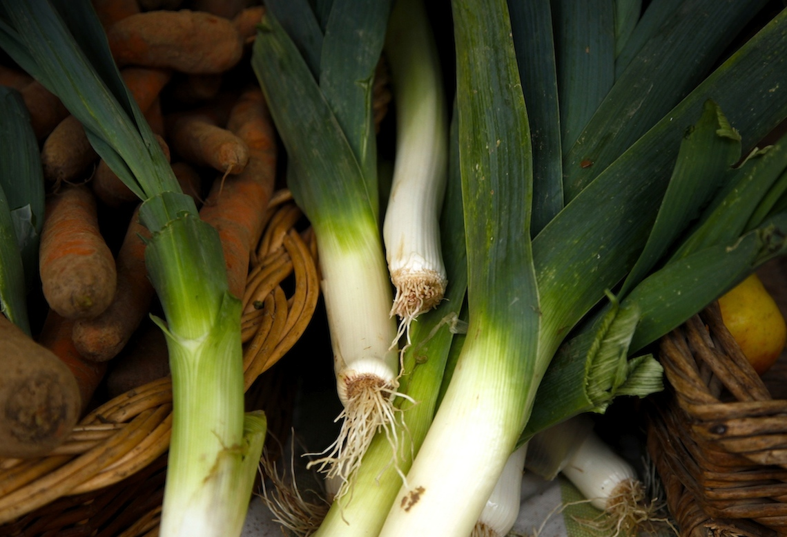 Leeks From the Market on Foodie Underground
