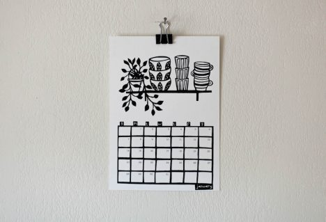 A Desk Calendar for Food Lovers