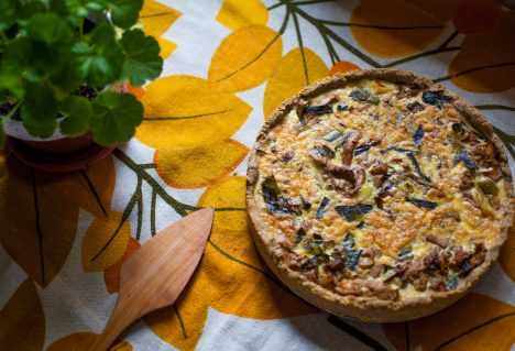 Chanterelle Tart with Rye Crust
